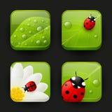 Sistema de iconos frescos del app