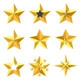 Estrellas del oro Imagen de archivo libre de regalías