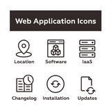 Sistema de iconos de la aplicación web Imágenes de archivo libres de regalías