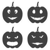 Sistema de iconos de la calabaza de Halloween Vector en el fondo blanco libre illustration