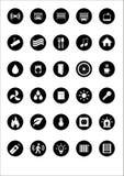 Sistema de 30 iconos de la calidad sobre formas elegantes de la tecnología de la automatización casera del hogar, con diseño plan Imagenes de archivo