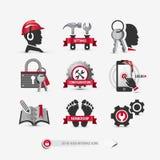 Sistema de iconos de la interfaz de usuario ilustración del vector