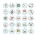 Sistema de iconos de la navegación del esquema del vector Imagen de archivo libre de regalías