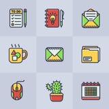 Sistema de iconos de la oficina del vector stock de ilustración