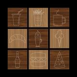 Sistema de iconos lineares Fotografía de archivo