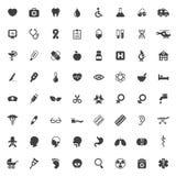 Sistema de iconos médicos del vector Imagen de archivo libre de regalías
