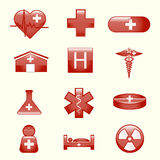 Sistema de iconos médicos ilustración del vector