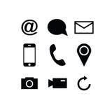 Sistema de iconos modernos del artilugio Fotografía de archivo libre de regalías