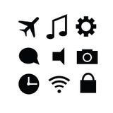 Sistema de iconos modernos del artilugio Fotos de archivo libres de regalías