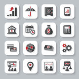 Sistema de iconos modernos planos del web del negocio Imagen de archivo libre de regalías