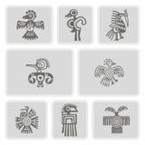 Sistema de iconos monocromáticos con el carácter americano de los zopencos de las reliquias de los indios (parte 4) libre illustration