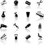 Iconos del salón de pelo Fotos de archivo libres de regalías