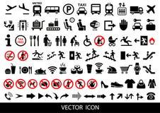 Sistema de iconos públicos en el fondo blanco Ilustración del vector Foto de archivo