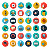 Sistema de iconos planos Fotografía de archivo