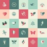 Sistema de iconos planos de la belleza y de la atención sanitaria del diseño