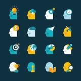 Sistema de iconos planos del concepto de diseño Foto de archivo libre de regalías