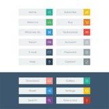 Sistema de iconos planos del diseño en barras o iconos coloridos Imagenes de archivo