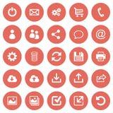Sistema de 25 iconos planos del web Imagen de archivo libre de regalías