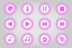 Sistema de iconos planos en estilo retro Parte 6 Foto de archivo