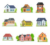 Sistema de iconos planos de la casa libre illustration