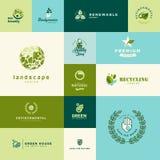 Sistema de iconos planos modernos de la naturaleza y de la tecnología del diseño libre illustration