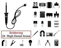Sistema de 24 iconos que sueldan Fotos de archivo libres de regalías