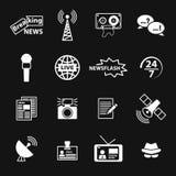 Sistema de iconos relacionados del periodismo Fotografía de archivo libre de regalías