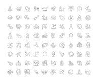 Sistema de iconos simples del espacio Fotografía de archivo
