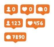 Sistema de iconos sociales Foto de archivo libre de regalías