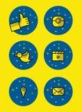 Sistema de iconos sociales Fotos de archivo libres de regalías