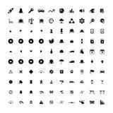 Sistema de 100 iconos universales Negocio, Internet, diseño web Imagen de archivo