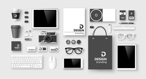 Sistema de identidad corporativa y de marcado en caliente Vector Imágenes de archivo libres de regalías