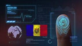 Sistema de identificação de varredura biométrico da impressão digital Nacionalidade de Moldova imagens de stock