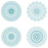 Sistema de ilustraciones redondas y de redes protectoras Imágenes de archivo libres de regalías