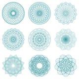 Sistema de ilustraciones redondas y de redes protectoras Foto de archivo libre de regalías