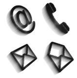 Sistema de imagen de los iconos de la comunicación imágenes de archivo libres de regalías