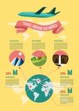 Sistema de Infographic del viaje Imagen de archivo libre de regalías