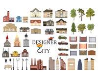 Sistema de infographics de la ciudad Foto de archivo libre de regalías