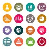 Sistema de Infographics Elements.Icon Imágenes de archivo libres de regalías