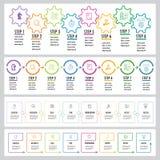 Sistema de Infographics stock de ilustración