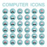 Sistema de informática de 36 iconos del web Imagenes de archivo