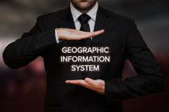 Sistema de informação geográfica & x28; GIS& x29; imagens de stock royalty free