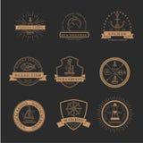 Sistema de insignias, de etiquetas y de logotipos náuticos de la marinería libre illustration