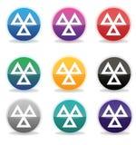 Sistema de 9 insignias/de iconos de MOT (el ministerio del transporte) Imagen de archivo libre de regalías