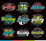 Sistema de insignias del deporte Diseño gráfico para la camiseta fotos de archivo libres de regalías