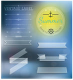 Sistema de insignias del inconformista del verano del vintage Imagenes de archivo