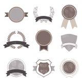 Sistema de insignias del vintage Imagen de archivo