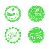 Sistema de insignias verdes Fotografía de archivo libre de regalías