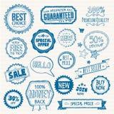 Sistema de insignias y de elementos dibujados mano del estilo libre illustration