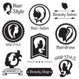 Sistema de insignias y de emblemas para la belleza o Foto de archivo libre de regalías